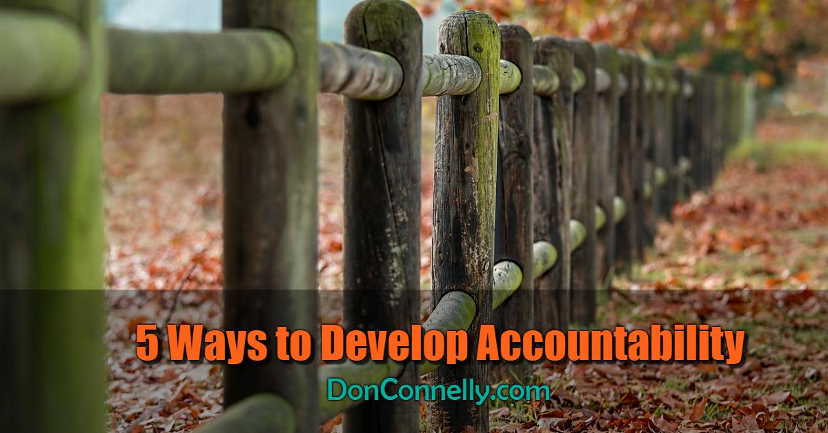 5 Ways to Develop Accountability