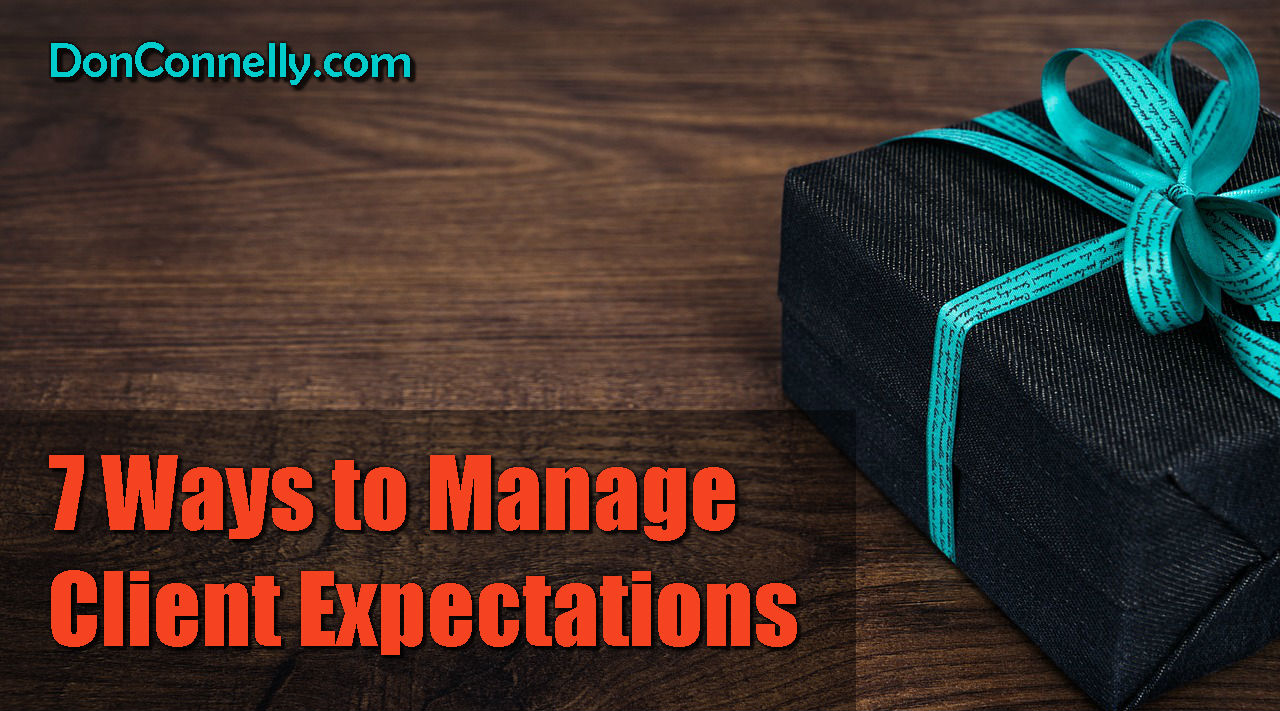 7 Ways to Manage Client Expectations
