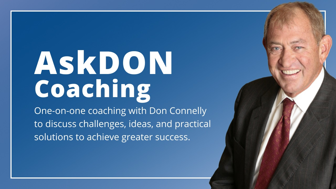 AskDON Coaching program - with Don Connelly