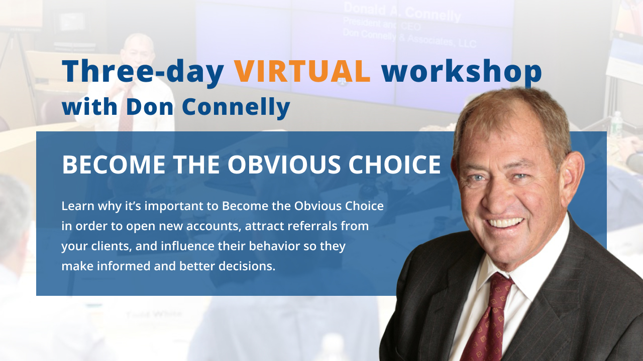 Become the Obvious Choice - Workshop with Don Connelly banner