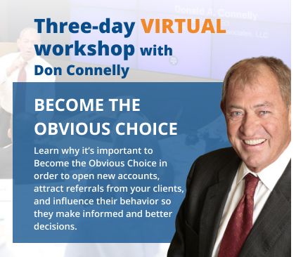 Become the Obvious Choice - workshop with Don Connelly