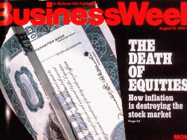BusinessWeek magazine cover - The Death of Equities