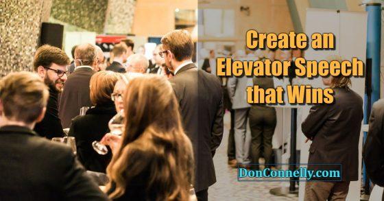 Create an Elevator Speech that Wins