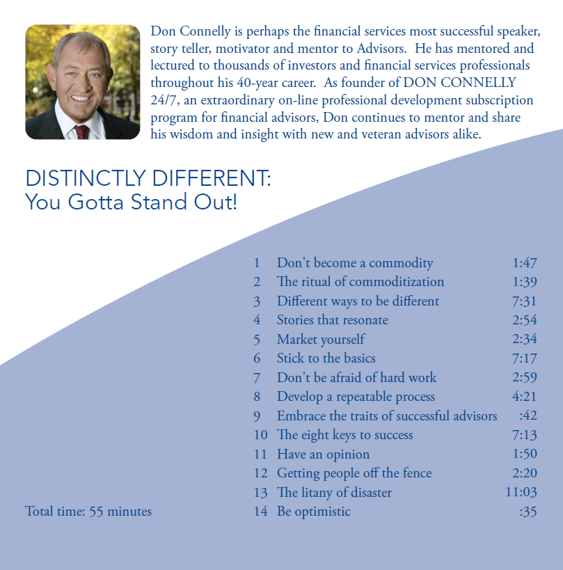 Distinctly Different - Ya Gotta Stand Out CD back