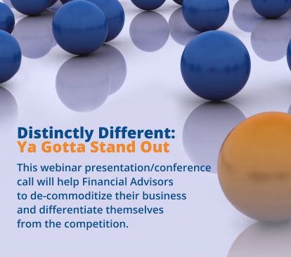 Distinctly Different - Ya Gotta Stand Out - Presentation