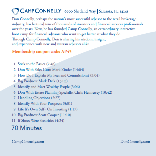 The Best of Camp Connelly Vol 1 back