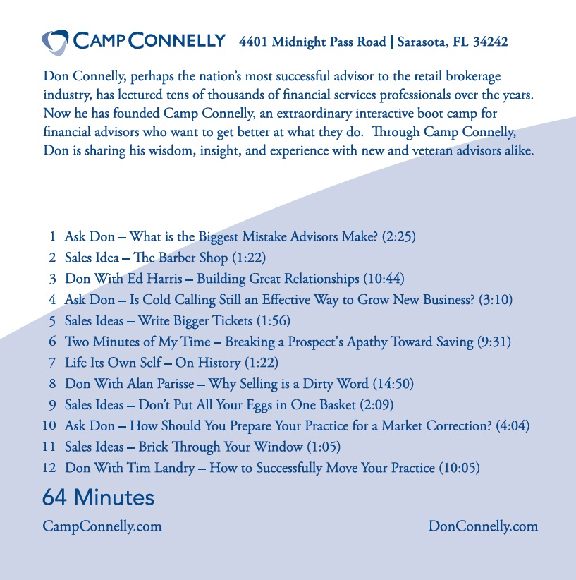 The Best of Camp Connelly Vol 2 back