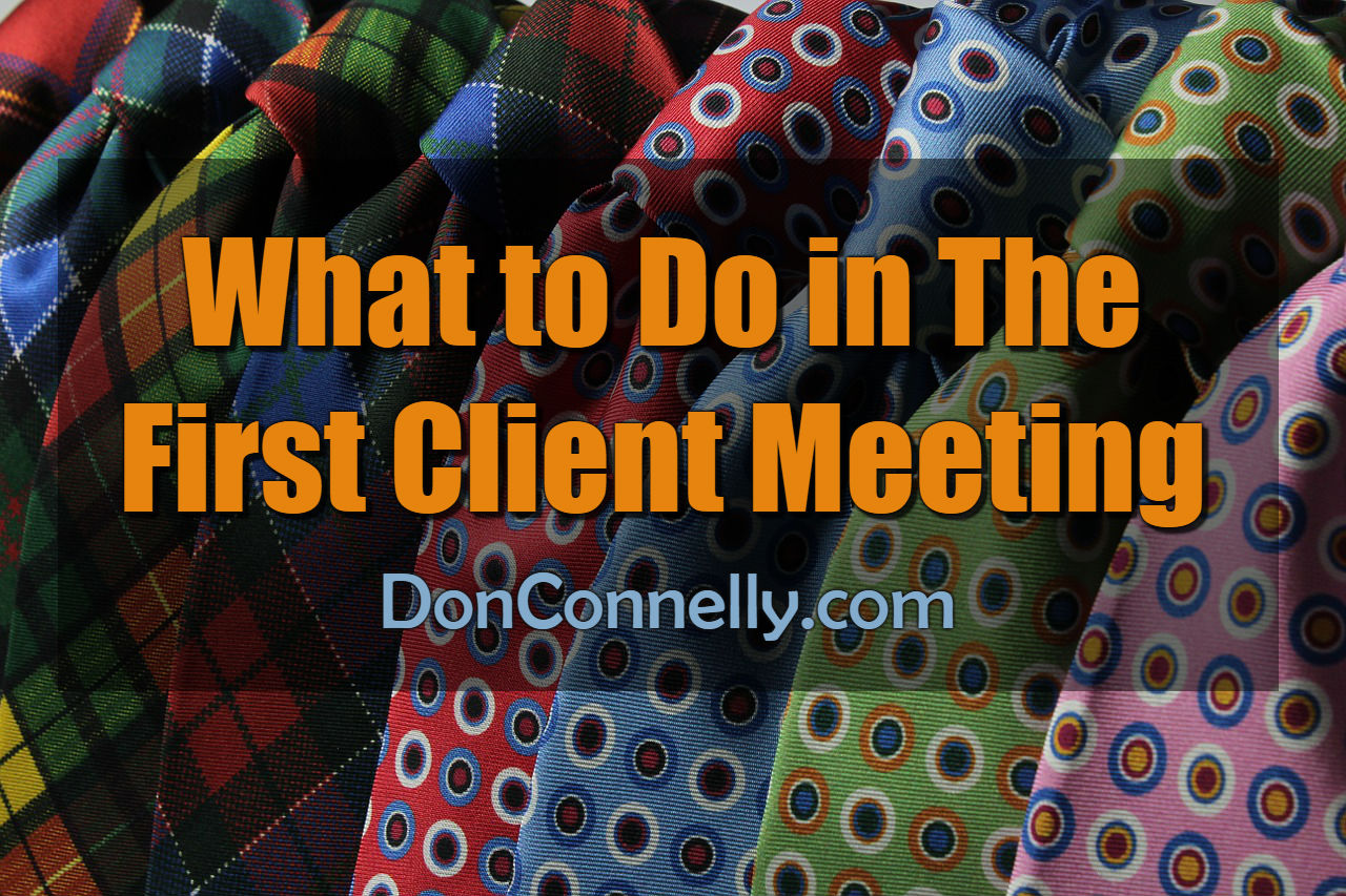 What to Do in The First Client Meeting