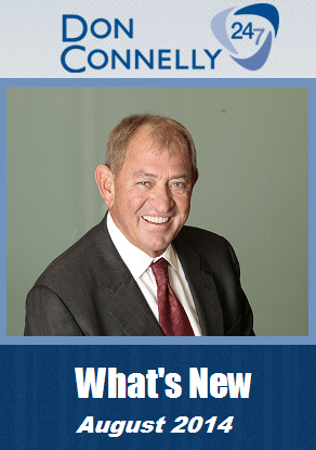 What's New on Don Connelly 24/7 in August 2014