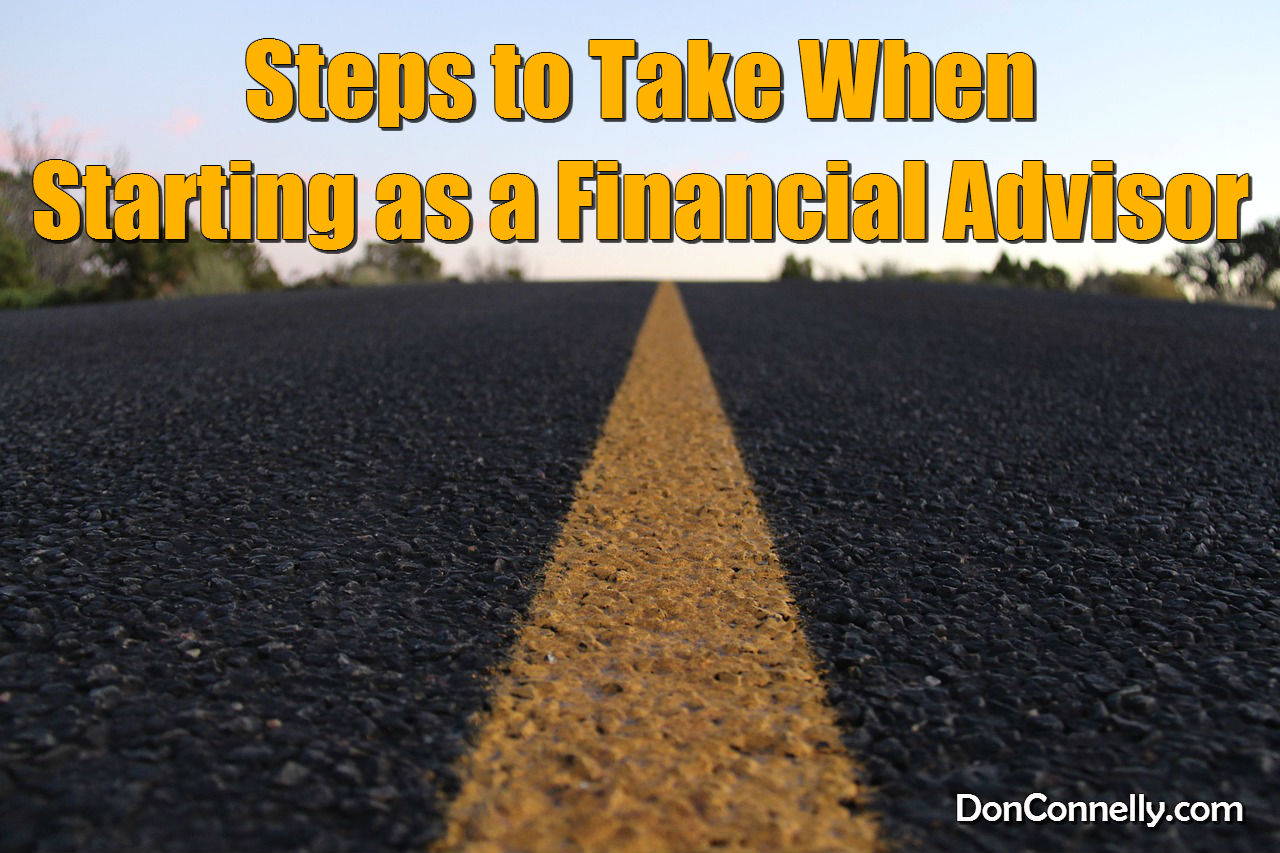 When Starting as a Financial Advisor